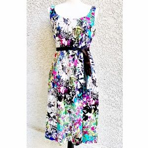 • Nicole Miller Graphic Floral Casual Tank Dress •